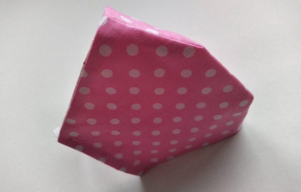 Дамска розова маска на точки5
