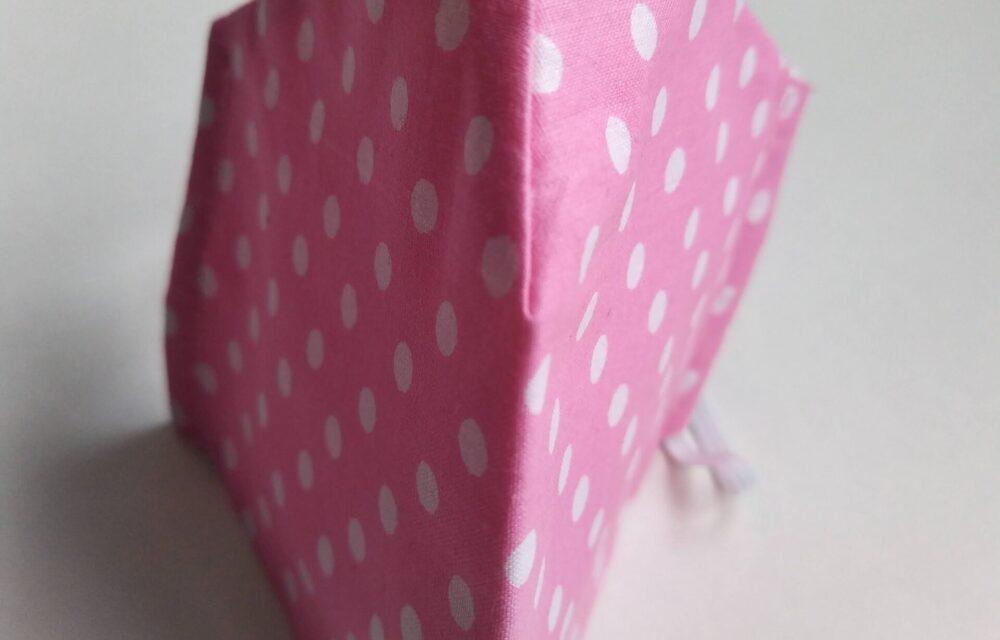 Дамска розова маска на точки6